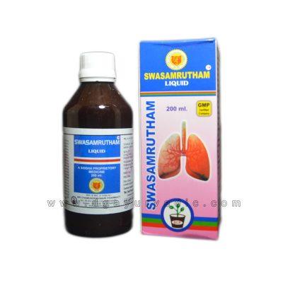Swasamrutham Liquid 200ml (Bronchitis and Cold) Sri Chamundeshwari Pharmacy